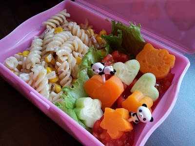 bento, lunchbox idea, tuna and sweetcorn pasta