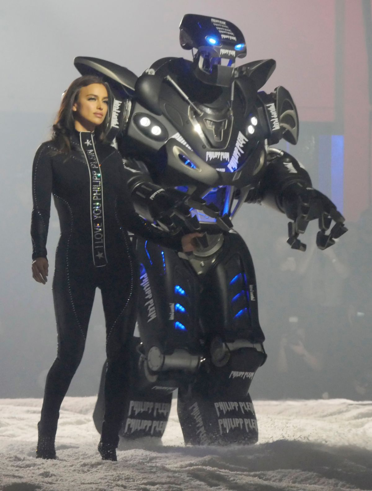 IRINA SHAYK at Philipp Plein Runway Show at New York Fashion Week