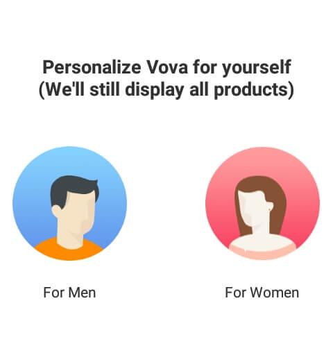 """buka apknya dan tunggu loading selesai kemudian pilih produk yang ingin ditampilkan. Pilih """"For Men"""" untuk produk Pria dan pilih """"For Women"""" untuk produk Wanita."""