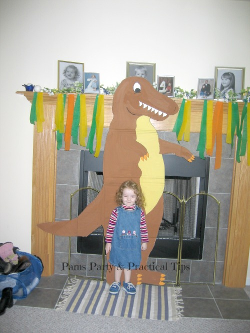 Cardboard T Rex for Dinosaur Party