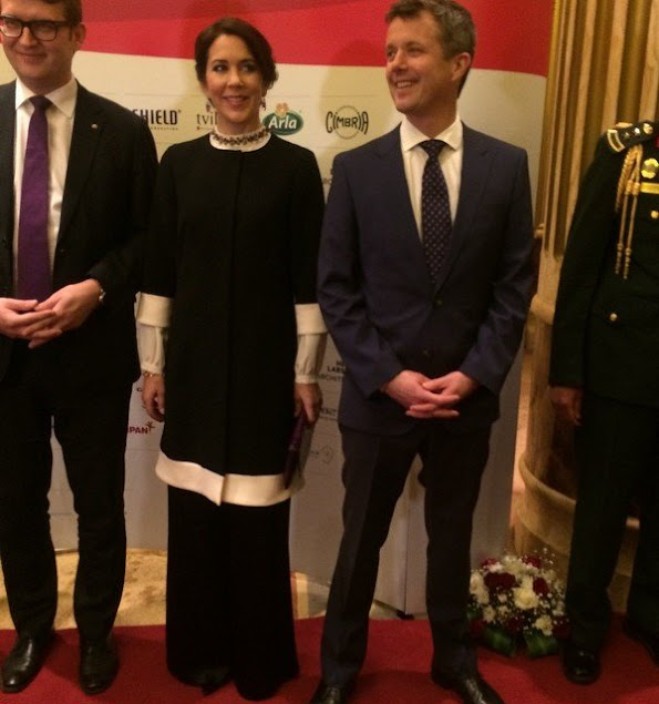 Crown Princess Mary and Crown Prince Frederik of Denmark attended a reception hosted by ambassador of Denmark in Saudi Arabia