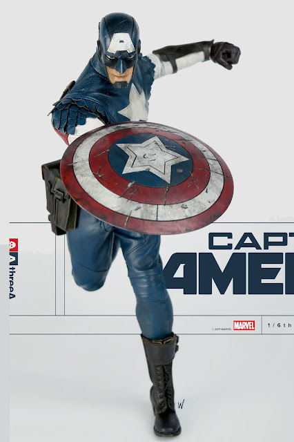 osw.zone ThreeA and Marvel proudly present 1/6 scale Ashley Wood Captain America Collector figure