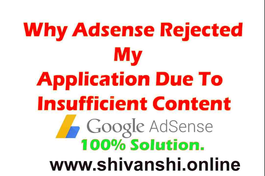 AdSense application has been disapproved