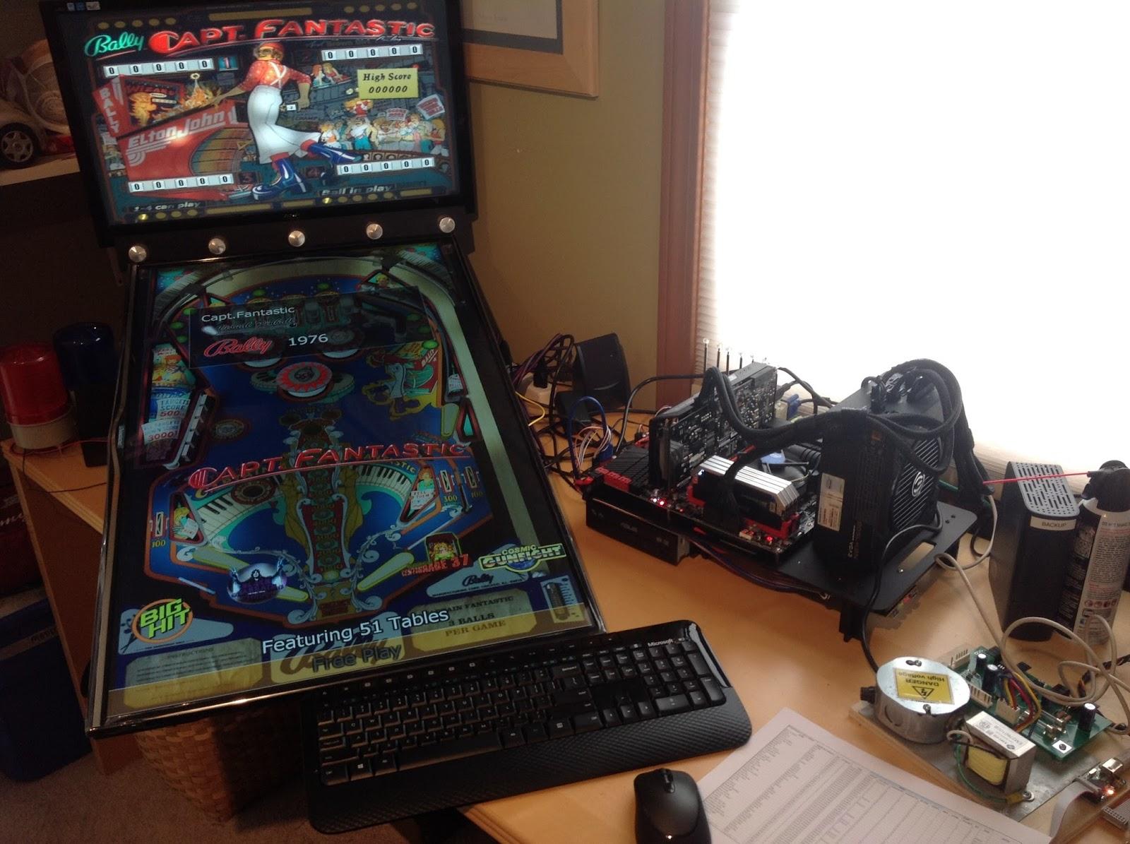 Things NOT left unsaid: Virtual Pinball Machine Build