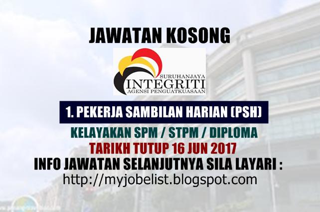 Jawatan Kosong di Suruhanjaya Integriti Agensi Penguatkuasaan Jun 2017