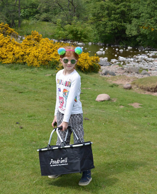 A Family BBQ at Ingram Valley, Northumberland National Park  - disposable bbq stand