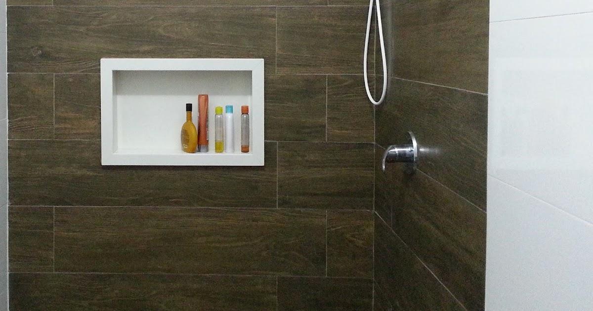 Panqueca na Parede Nicho embutido para banheiro  beleza e praticidade -> Nichos Externos Banheiro