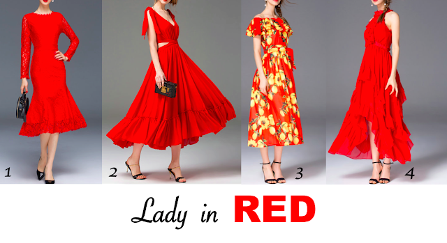 StyleWe, Red Dresses at StyleWe, Lady in RED