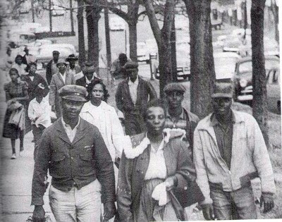 1955: Montgomery Bus Boycott, December 5, the black community launched a boycott in response to Rosa Parks' arrest.