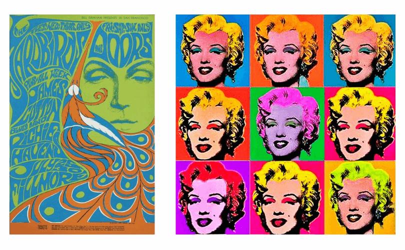 Peristiwa Penting Dalam Desain Grafis - Psychedelia and Pop Art