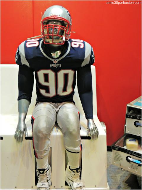 Jugadores de los Patriots en el Banquillo