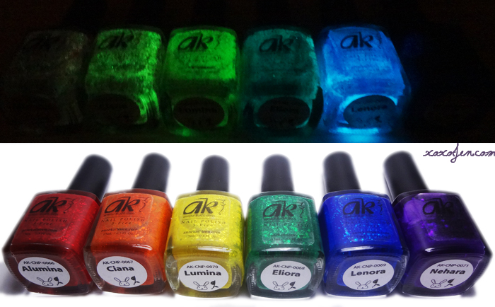 xoxoJen's photo of Anne Kathleen Holiday Night Lights polish bottles
