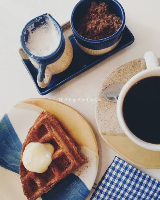 waffle, coffee, rustic mornings, breakfast