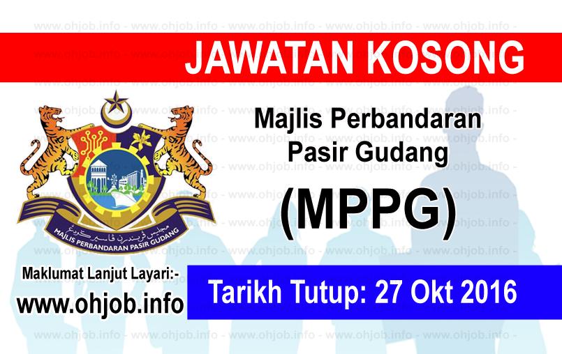 Jawatan Kerja Kosong Majlis Perbandaran Pasir Gudang (MPPG) logo www.ohjob.info oktober 2016