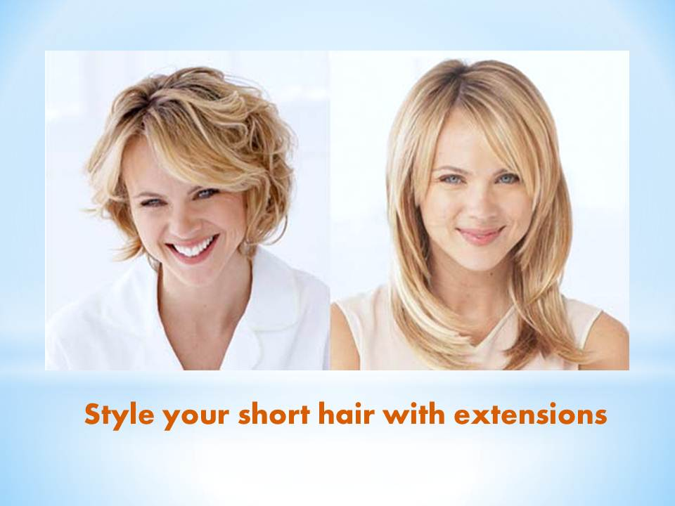 The hair extension service can offer you the attractive appearance you can follow certain stylish tips to use a hair extension for you short hair pmusecretfo Images