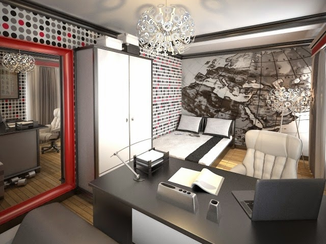 habitaciones juveniles con paredes decoradas dormitorios colores y estilos. Black Bedroom Furniture Sets. Home Design Ideas