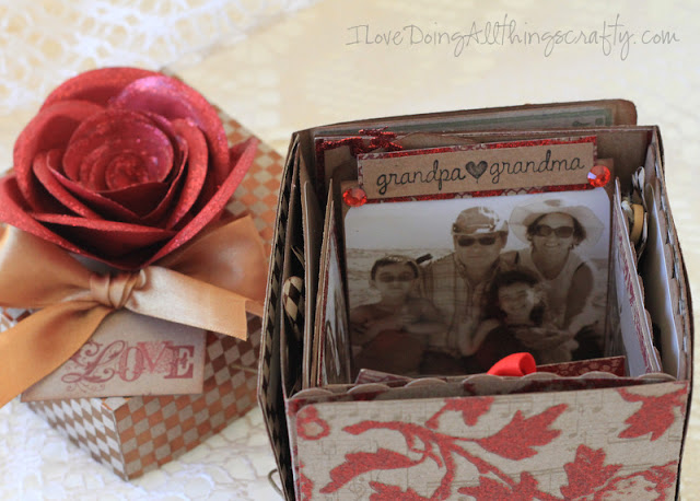 40 Year Ruby Anniversary Explosion Box Keepsake | SVGCuts
