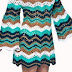 How to make crochet dress riplle point zig zag-Pattern