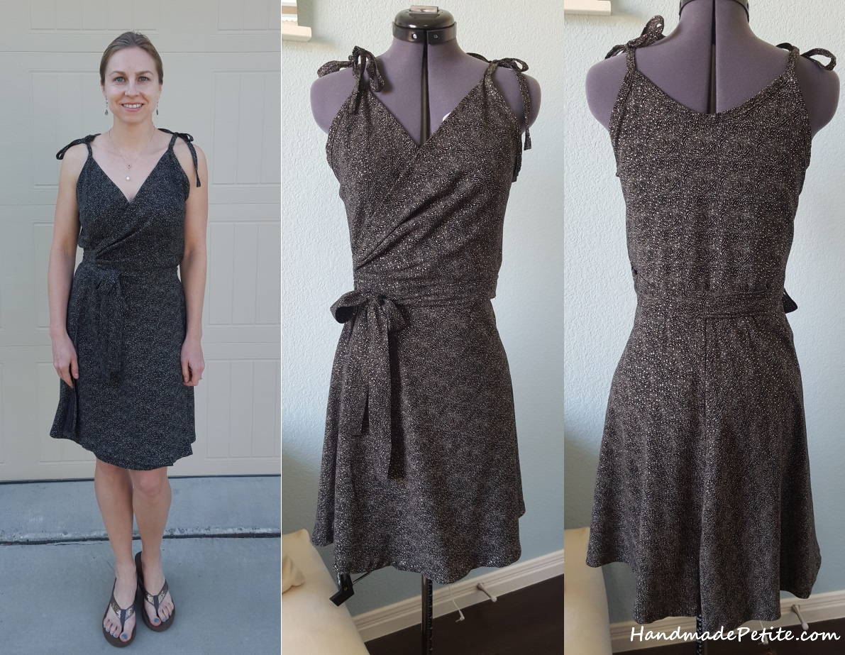 Sewing Papercut Midsummer Nights Dream wrap dress pattern from shimmering rayon challis