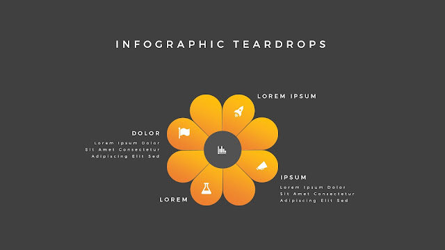 Infographic Teardrop elements for PowerPoint Slide 8