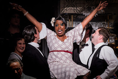 Nadine Benjamin as Musetta in Tosca at ENO (Photo Robert Workman)