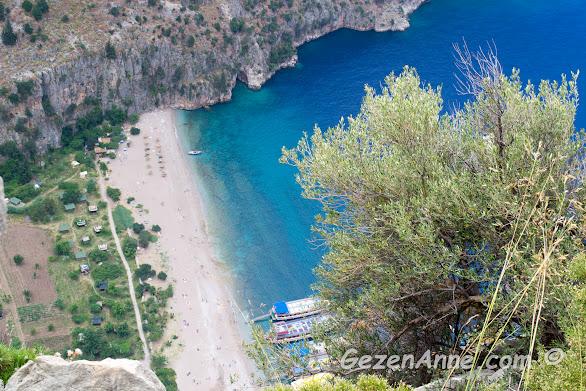 Vadi tepesinden Kelebekler Vadisi manzarası, Fethiye