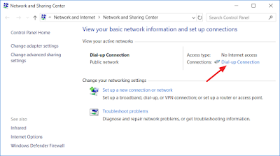 Dial-up connection