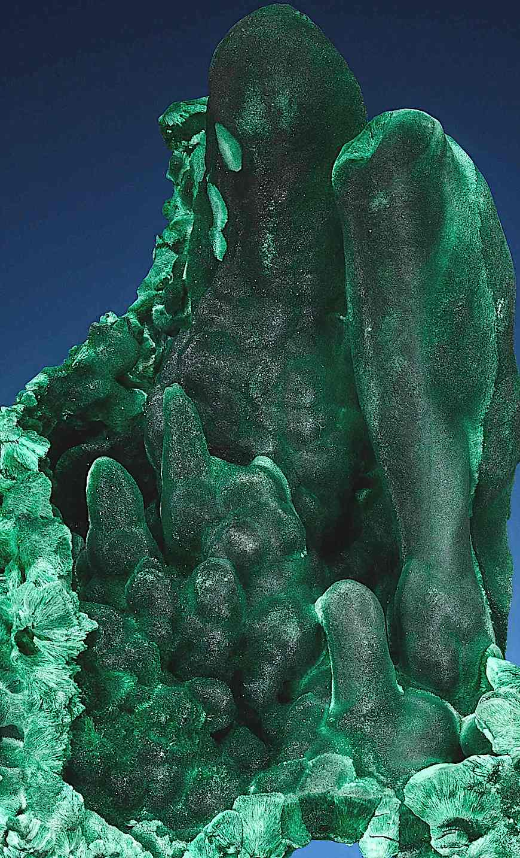 Malachite, a color photograph