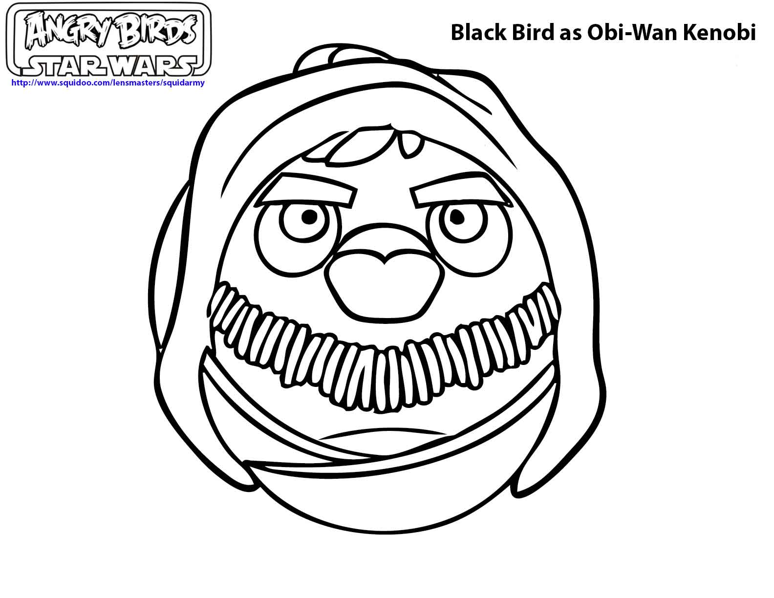 Angry bird star wars coloring pages - photo#41