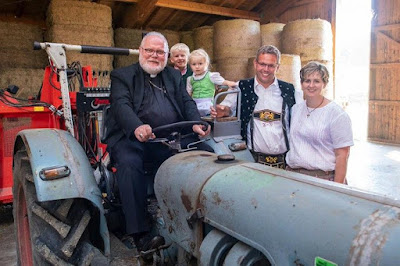 Marx on a tractor