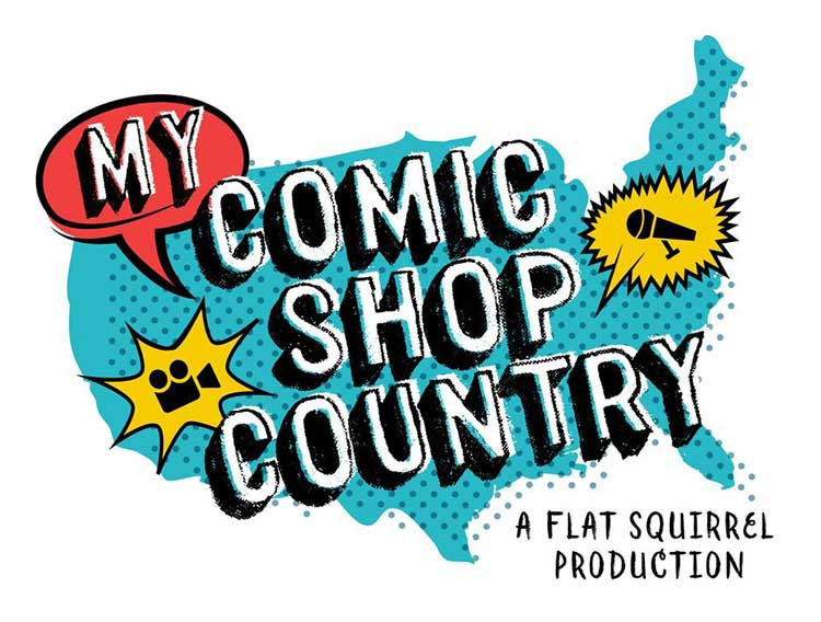 Poster for the upcoming film My Comic Shop Country by Anthony Desiato