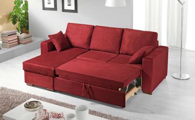 La penisola del divano diventa letto contenitore