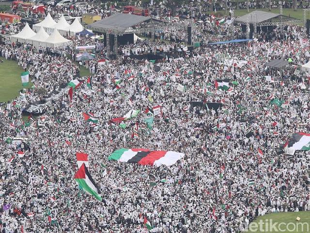 Aksi Bela Palestina Jakarta Jadi Sorotan Media Internasional