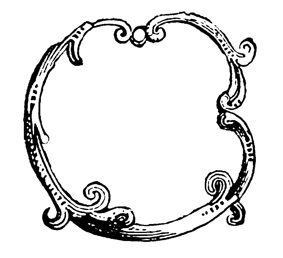 Digital Stamp Design: Decorative Circle Frame Designs ...