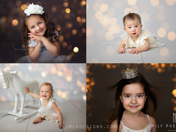 100+ Christmas Gold Bokeh Overlays