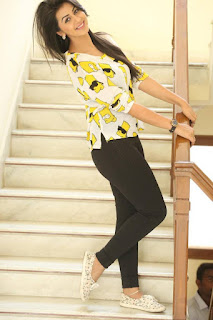 Actress Nikki Galrani Latest Pictures in Tights at Malupu Interview  0025.jpg
