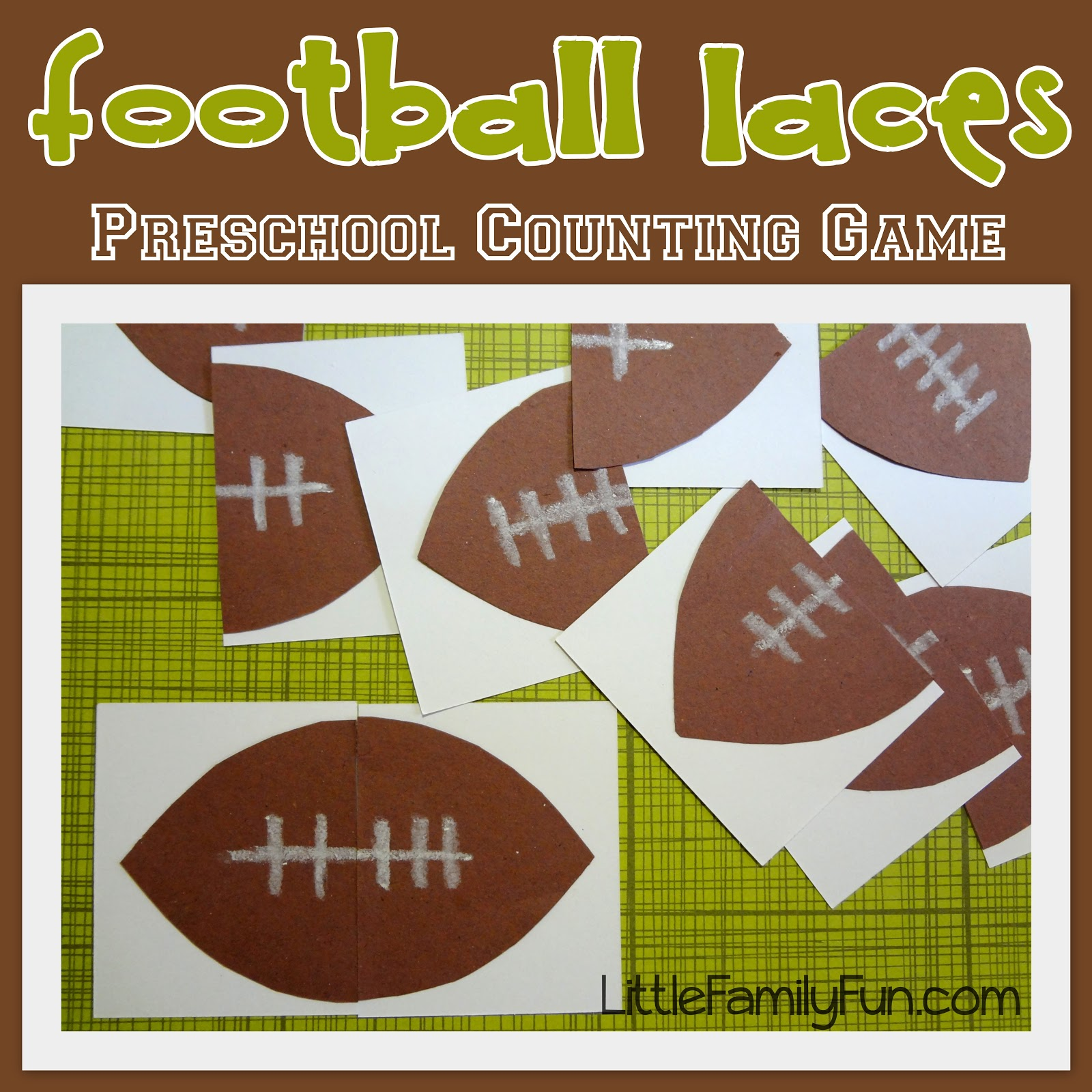 Little Family Fun Football Laces Counting Game