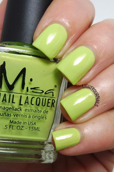 Smalto verde Misa Lime Love green nail polish #misa #nails #unghie #lightyournails