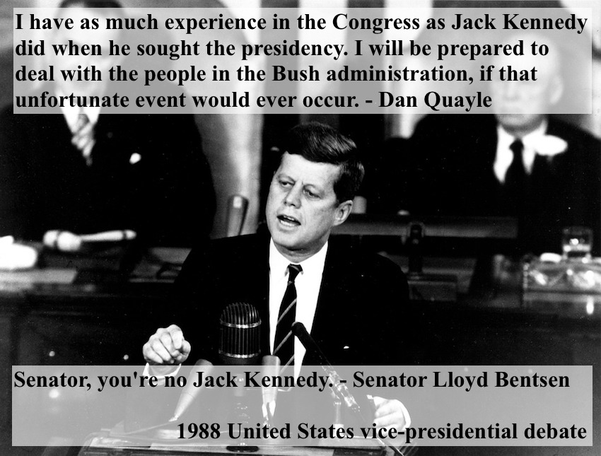 Dan Quayle vs Bensten 1988 US VP Debate Senator, you're no Jack Kennedy