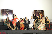 Vidya Balan with Ila Arun Gauhar Khan and other girls and star cast at Trailer launch of move Begum Jaan 010.JPG