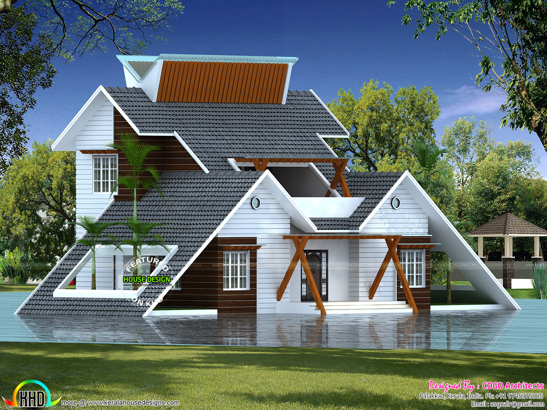 Creative home architectural design kerala home design for Creative house designs