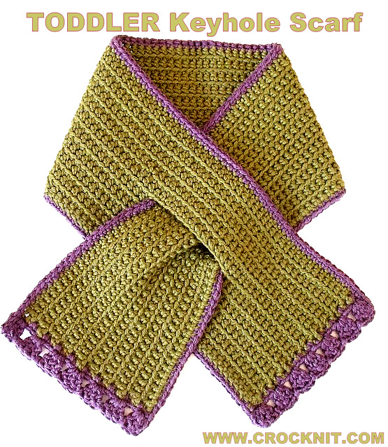 Microcknit Creations Toddler Keyhole Scarf