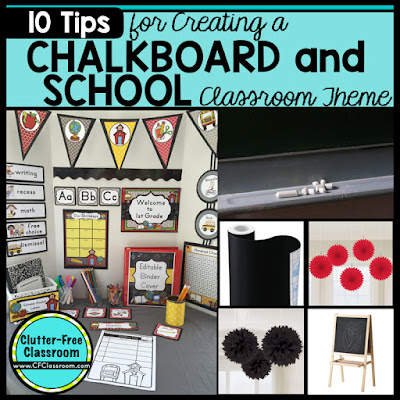 are you planning a chalkboard themed classroom or thematic unit this blog post provides great