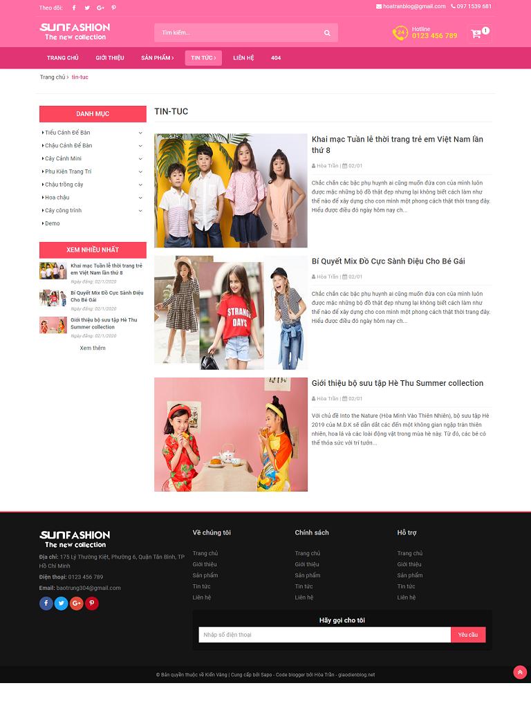 Template Blogspot bán hàng thời trang đẹp chuẩn SEO - Ảnh 2