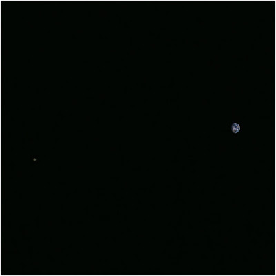 Earth and moon. Hayabusa 2 25-11-2015.