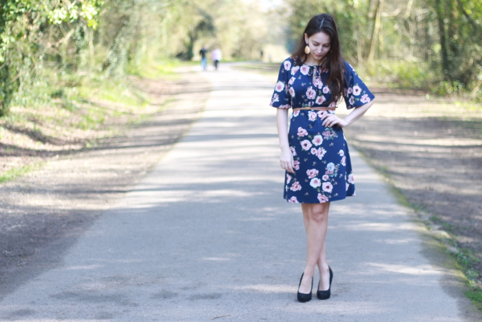 Sainsbury Floral Dress Floaty Sleeves