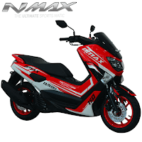 Harga Cash dan Kredit Motor Modifikasi Yamaha NMax Custom Red Max