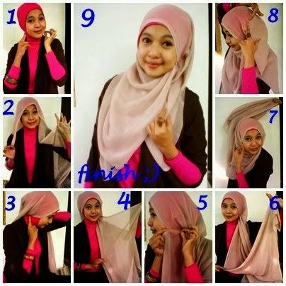 model jilbab syar'i untuk wisuda dan cara memakainya