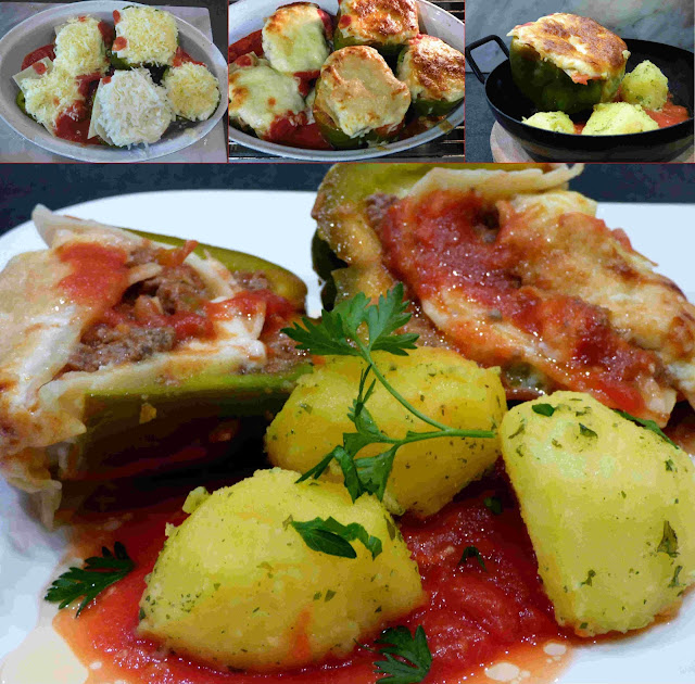 fischiscooking, gefüllte paprika, lasagne
