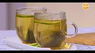 طريقة عمل مشروب الشاي الأخضر بالليمون مع سالي فؤاد في حلو وحادق